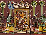 Untitled (Sita in Ashokavana) - Jamini  Roy - Modern Evening Sale | New Delhi, Live