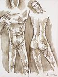 Untitled (Paris Suite) - M F Husain - Summer Online Auction