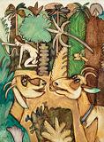 Goats in Eden - K G Subramanyan - Summer Online Auction