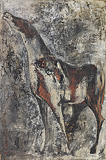 Untitled (Neighing Horse) - Krishen  Khanna - Summer Online Auction