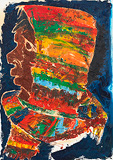 Boy with a Colourful Scarf - Krishen  Khanna - Summer Online Auction