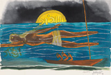 Untitled (Ganga) - M F Husain - Modern and Contemporary Indian Art
