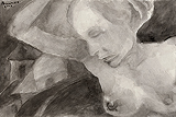 Untitled - Akbar  Padamsee - 24 Hour Online Auction: Works on paper
