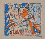 Untitled - K G Subramanyan - 24 Hour Online Auction: Works on paper