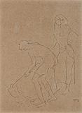 Untitled - K K Hebbar - 24 Hour Online Auction: Works on paper