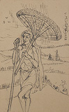 Untitled - Nandalal  Bose - 24 Hour Online Auction: Works on paper