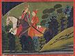 BAZ BAHADUR AND RUPMATI RIDING AT NIGHT - Classical Indian Art