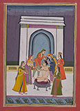 A LADY IN TOILETTE -    - Classical Indian Art