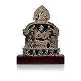 MAITREYA AND BUDDHA WITH ATTENDANTS -    - Classical Indian Art