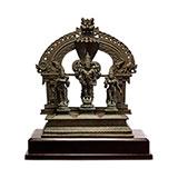 VISHNU WITH SRIDEVI AND BHUDEVI -    - Classical Indian Art