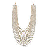 A FOURTEEN ROW PEARL NECKLACE -    - Online Auction of Fine Jewels and Silver