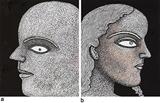 a) Face of a Man II b) Lady II - Jogen  Chowdhury - The Discerning Eye | Bangalore, Live