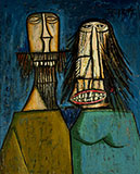 Man and Woman Laughing - F N Souza - Evening Sale | New Delhi, Live