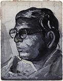 Untitled (Self Potrait) - Jamini  Roy - Summer Online Auction