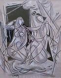 Untitled - George  Keyt - Works on Paper Online Auction