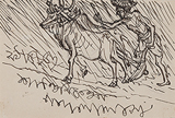 Untitled - Nandalal  Bose - Works on Paper Online Auction