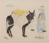 Untitled - N S Bendre - Works on Paper Online Auction