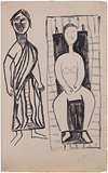Untitled - Ram  Kumar - Works on Paper Online Auction