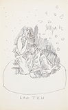 Untitled (Lao Tzu) - F N Souza - Works on Paper Online Auction