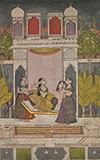 LADY AT HER SRINGAR -    - Classical Indian Art | Live Auction, Mumbai
