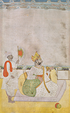 SEATED RAJA WITH ATTENDANT HOLDING FAN -    - Classical Indian Art | Live Auction, Mumbai
