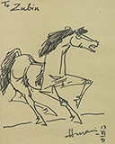 Untitled - M F Husain - Art and Collectibles Online Auction