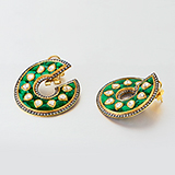 EMERALD AND DIAMOND EARRINGS -    - Art and Collectibles Online Auction