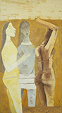 Untitled (Women In Yellow) - M F Husain - Evening Sale of Modern and Contemporary Indian Art