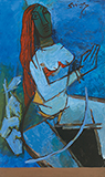 Lady - M F Husain - Evening Sale of Modern and Contemporary Indian Art