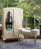 PAINTED BURMA TEAK BEDROOM SUITE <br> Mumbai -    - An Aesthete's Vision