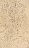 Untitled (Prepatory Drawing for Mahishasura Mardini) - Nandalal  Bose - Evening Sale | New Delhi, Live
