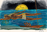 Untitled (Ganga) - M F Husain - The Ties That Bind: South Asian Modern and Contemporary Art