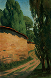 Untitled (Zebegeny Landscape) - Amrita  Sher-Gil - Summer Online Auction