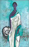 Untitled (Fisherwoman) - B  Prabha - Summer Online Auction