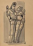 Untitled (Khajuraho) - Somnath  Hore - Summer Online Auction
