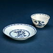 """BLUE AND WHITE """"NANKING CARGO"""" PORCELAIN CUP WITH SAUCER - Asian Art"""