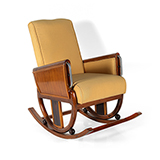 ART DECO ROCKING CHAIR WITH UPHOLSTERY -    - The Design Sale