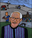 Portrait of Bhupen Khakhar - Madhvi  Parekh - From Classical to Contemporary