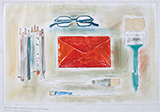 Red Envelope and Other Objects - Prabhakar  Barwe - From Classical to Contemporary