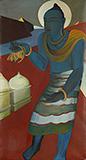 Untitled (Blue Buddha) - Govind Madhav  Solegaonkar - Evening Sale | Mumbai, Live