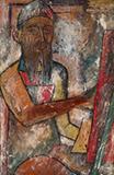 Portrait of Husain - F N Souza - Evening Sale | New Delhi, Live