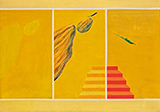 Untitled (Bird and Mountain Series) - Jagdish  Swaminathan - Summer Online Auction