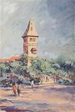Untitled (Landscape) - S H Raza - Summer Online Auction