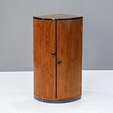 ART DECO CYLINDRICAL CORNER CABINET -    - The Design Sale