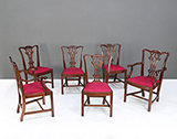 CHIPPENDALE-STYLE DINING CHAIRS -    - The Design Sale