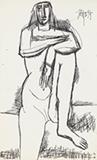Untitled - F N Souza - Summer Online Auction