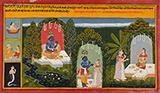 FOLIO FROM GITA GOVINDA: KRISHNA AWAITS RADHA -    - Classical Indian Art