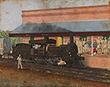TRAIN ENGINE - Classical Indian Art