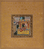 PALACE SCENE AT NIGHT -    - Classical Indian Art