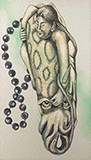 Pearl Diver's Embrace - Anju  Dodiya - Contemporary Indian Art: A Selection from the Amaya Collection